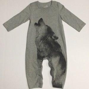 Baby Gap Wolf Footless PJs